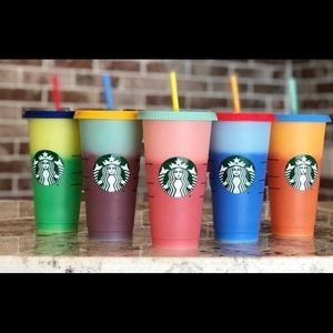 Starbucks reusable color changing cups 2019